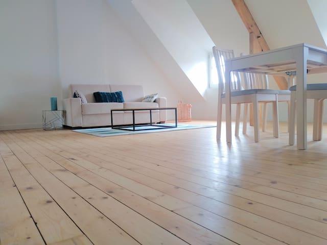 Grand studio très lumineux au coeur de Solidor.