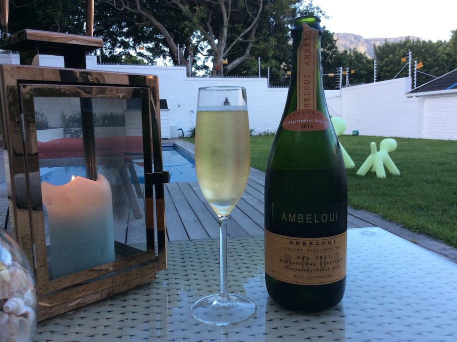 End your day with a glass of bubbles @ pool
