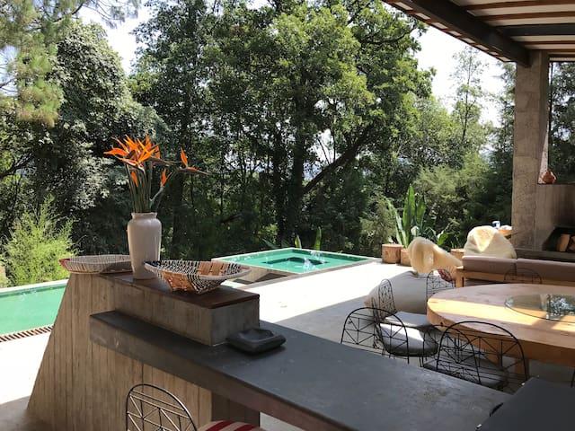 Casa Valle con jacuzzi, asador y terraza