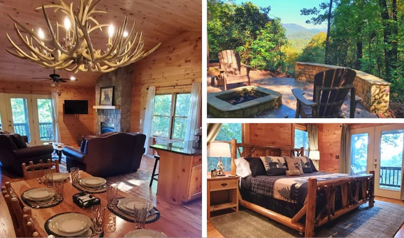 New! Luxury Cabin.View, Hot Tub,Firepit,Fireplace