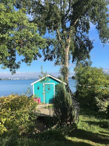 The Workshop - On the Cottage Dock. Splash!