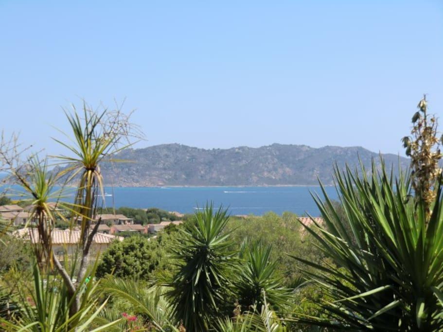 La vista sull'isola di Molara