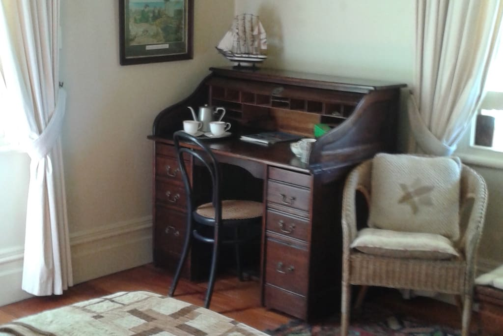Tea and coffee making facilities. We provide a range of herb teas as well as tea and coffee.