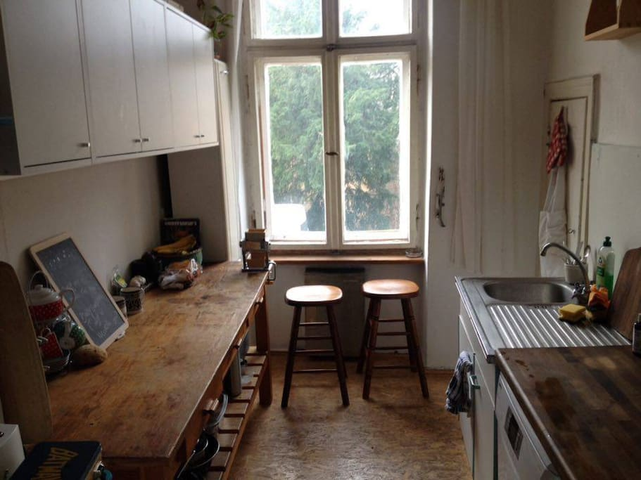 Kitchen facing the park