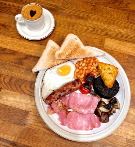 Full English breakfast included.