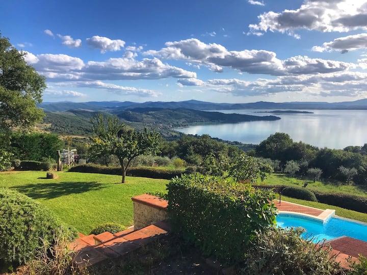 Bellissima Villa con piscina e vista sul Lago