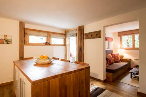 Cosy 1 bed apartment, 300m from cable car