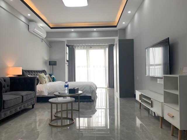 柳州步步高广场地王公寓 高层冷艳风一居室