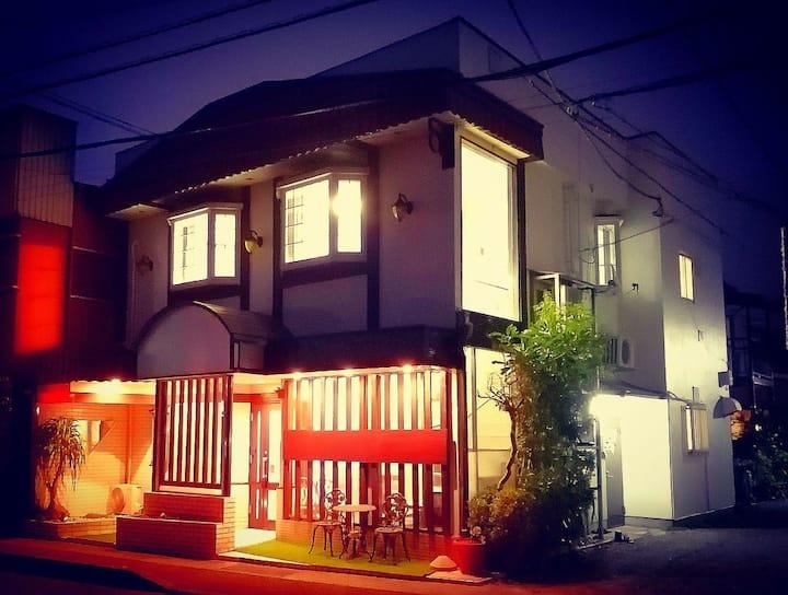 箱根、小田原日式别墅双人大床双床间(带独立卫生间和洗脸台)--A-Room