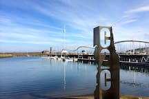 Whitehaven harbour- Start of C2C cycle route.