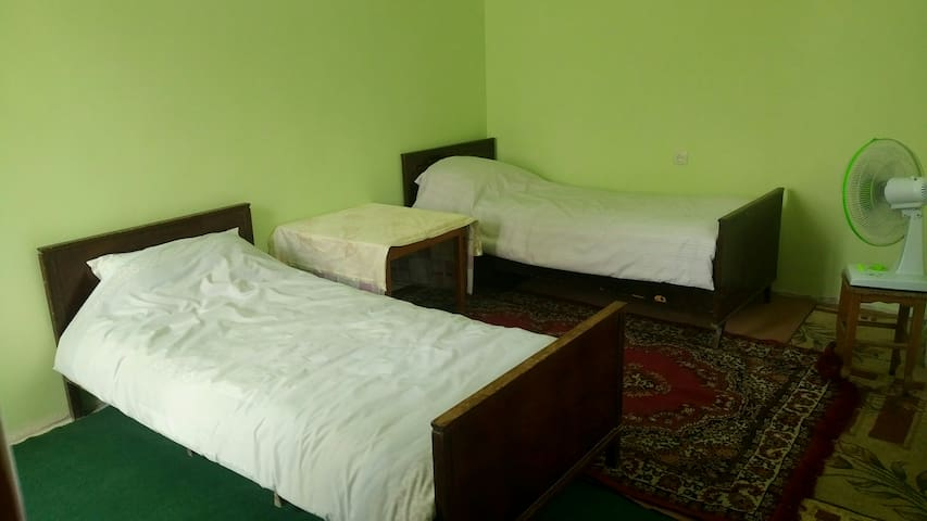 Shared room with tow single beds