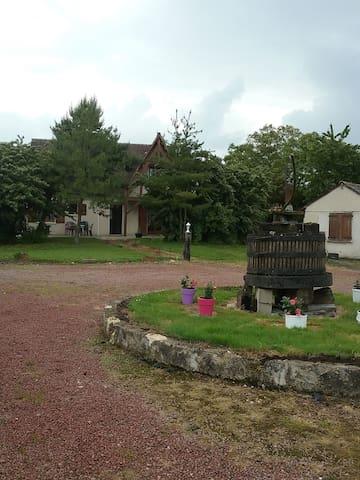 maison avec piscine - Semblançay - Huis