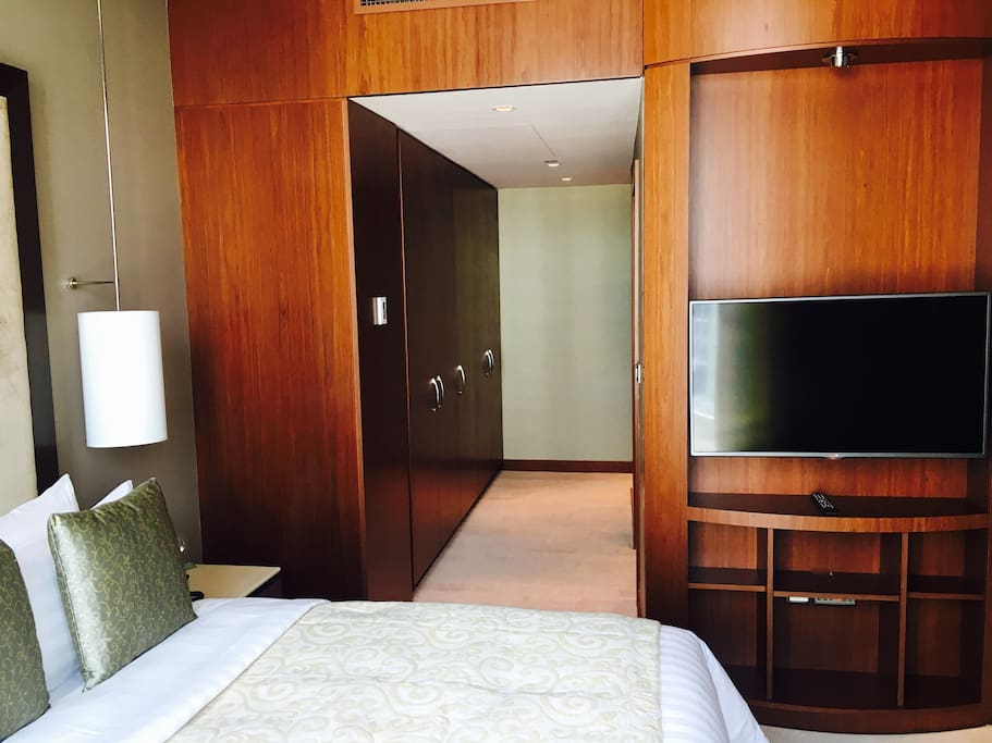 2 Wardrobes inside Room