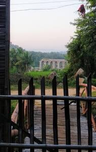 SunRise cafe Hampi River view
