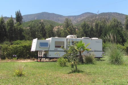 Travel Trailer in Chilean Vineyards countryside - Paine