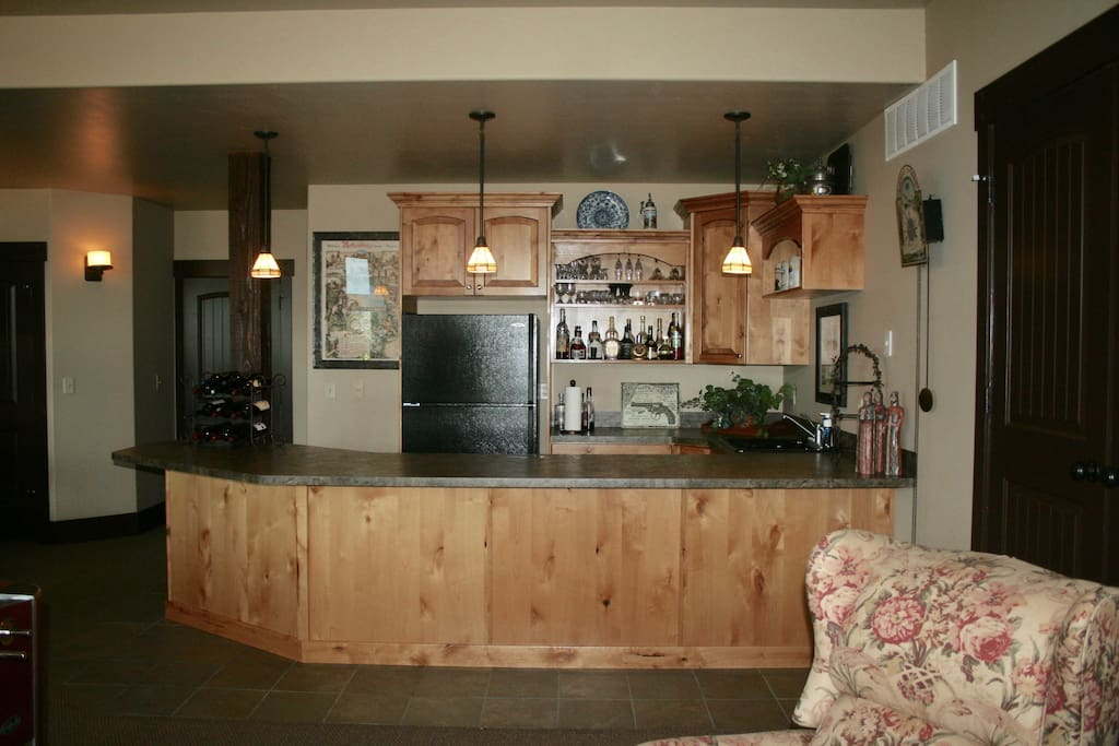 Private Family Room with Kitchen area and Bar