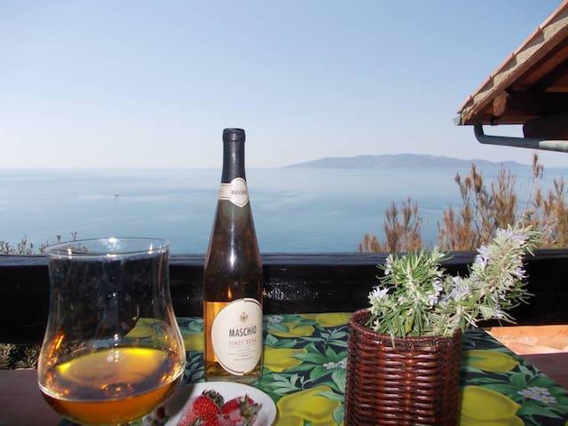 Tuscany Romantic Sea Cliff,Island view