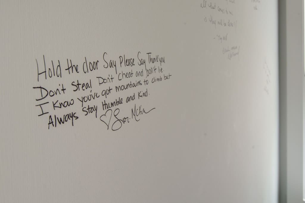 Lyrics and autograph of Country Music's 2017 Songwriter of the year and our guest Lori Mckenna!
