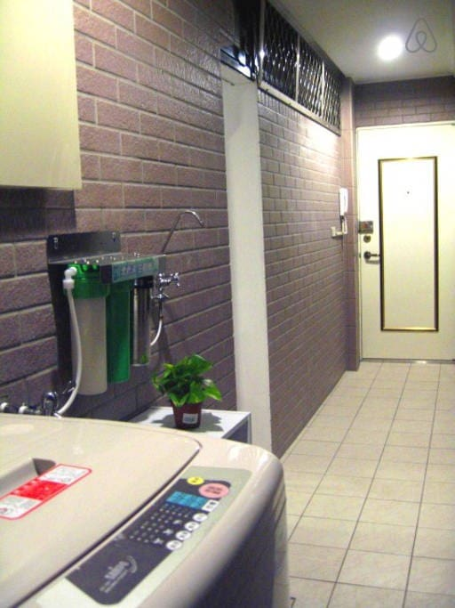 Public Area :washing machine, microwave, fliter water.
