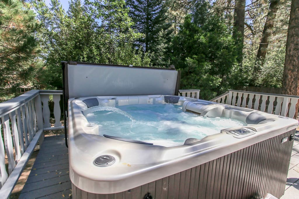 Relax after a long day outdoors, in this brand new HOT TUB!