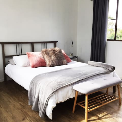 Comfortable and Spacious Loft Bedroom with a Queensize Bed.