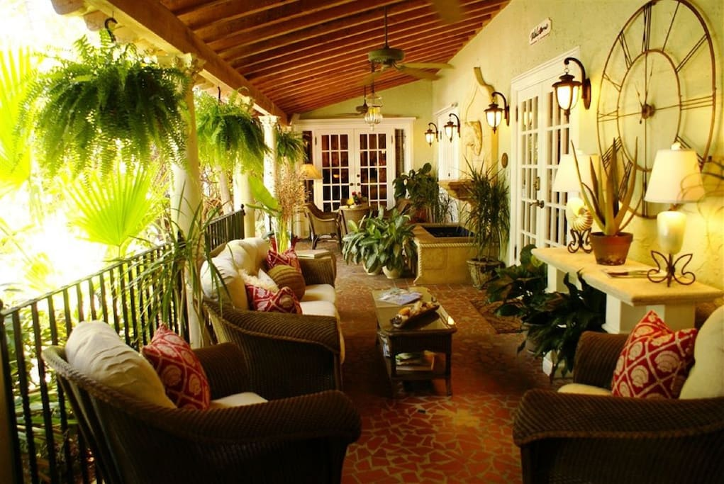 Inviting and relaxing porches