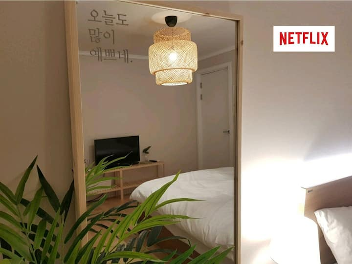 Hongdae 2Room, 30sec for Airport line Hongik sta.