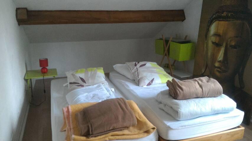 Chambre privée dans maison bleue du Lac - Beaumont-du-Lac - Ev