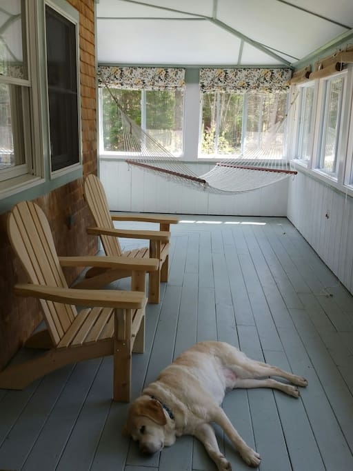 Front porch - lab not included