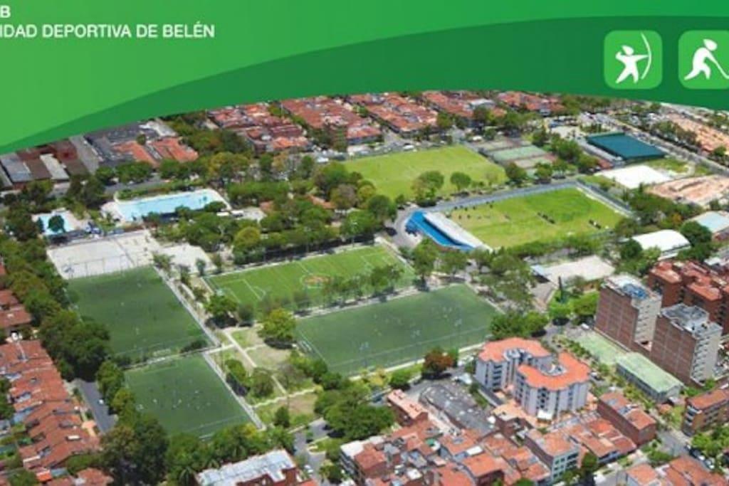 Near to Unidad deportiva de Belén, with pools, outdoor gym, archery field...