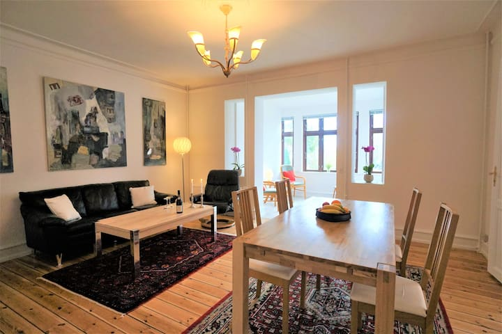 Sea view apartment in the heart of Stege/Møn