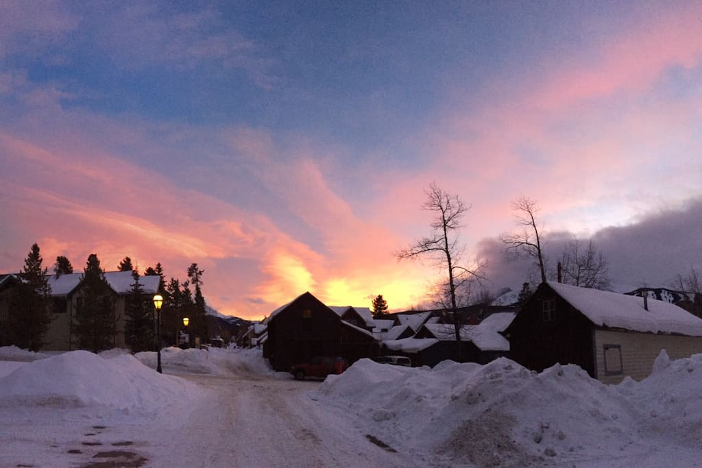 January 4, 2015 4:33 PM in Breckenridge, kind of sets the tone for the new year