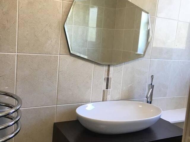 double room with a luxury bathroom