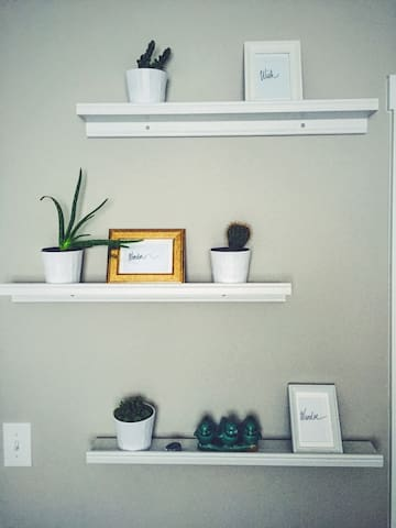 Room has multiple plants that help give it life.
