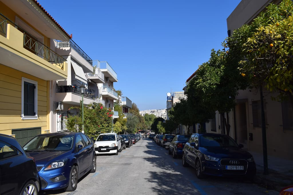 All the way down is the  pedestrian street of Apostolou Pavlou in Thissio.