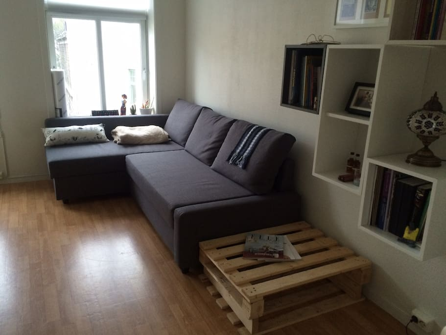 Comfortable and double sofa bed