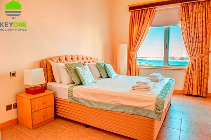 Furnished OneBR ALKhurawi6 Beach ViewPalm Jumeirah - Дубаи