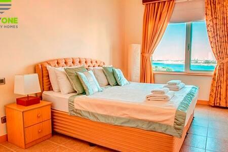 Furnished OneBR ALKhurawi6 Beach ViewPalm Jumeirah - Dubai - Apartamento