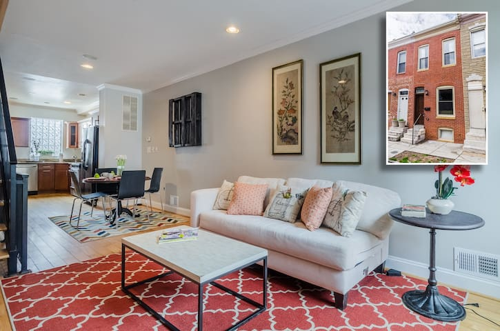 Modern 3bed, 2bath townhome in Patterson Park - Baltimore - House