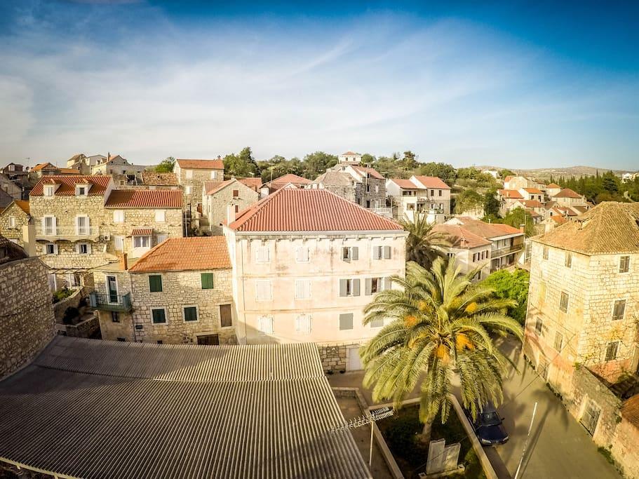Villa Milna from the air