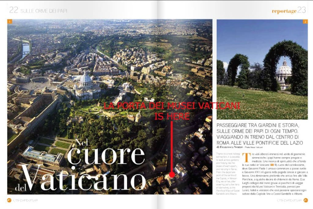 Page from the Official italian train magazine http://issuu.com/edizionilafreccia/docs/la_freccia_viaggi_-_ottobre_2015/25?e=18110230/30894191