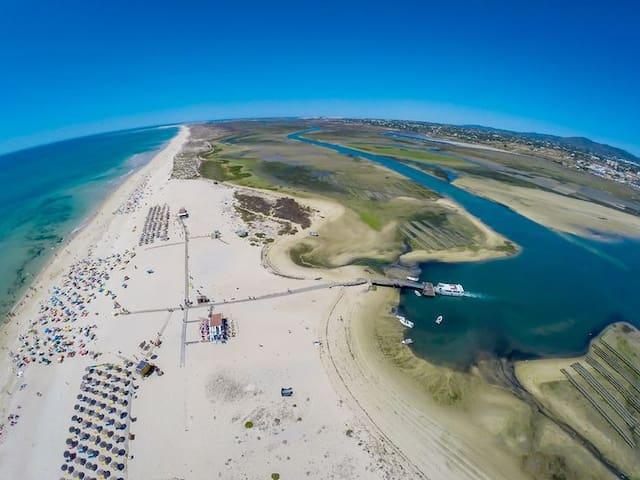 Ria Formosa and Fuzeta island beach