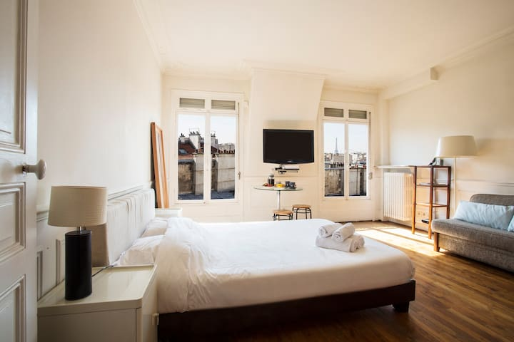 Beautiful flat with a view on Eiffel Tower! - Paris-2E-Arrondissement - Apartamento