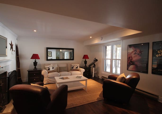 Private living room area