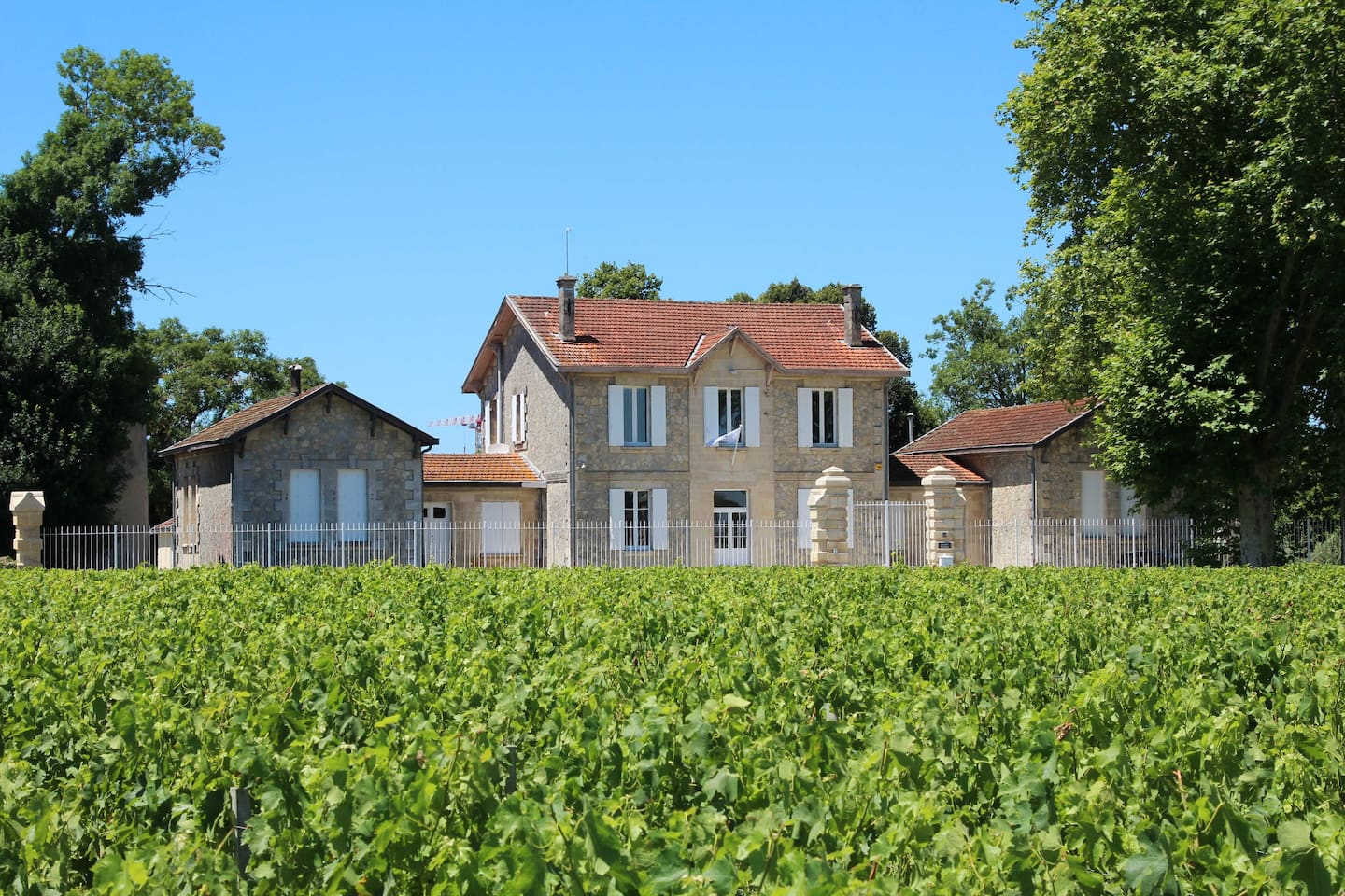 The Frontage of Manoir Saussus from the Chateau Lynch-Bages Vineyard