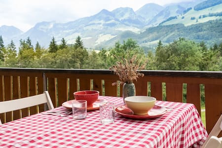 Panoramic view montain chalet - Haut-Intyamon - 牧人小屋