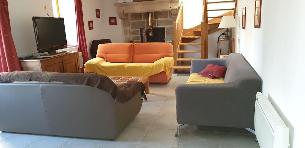 Belle maison, spacieuse, calme et confortable