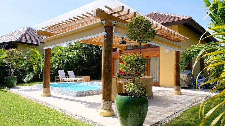 Elegante Villa 1 Hab Cap Cana-Green Village-Pool