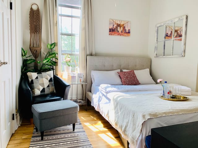 Sunny Private Bedroom, 15 Mins from NYC!