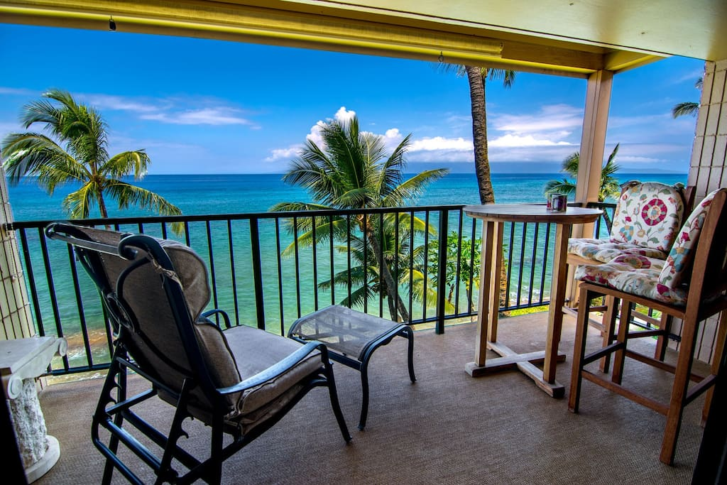 Breath-taking views from our private lanai